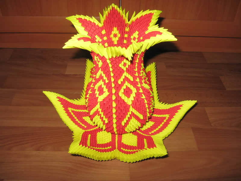 Ваза лотос оригами